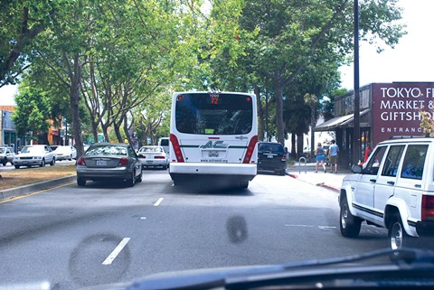 Parking spaces on San Pablo are likely to give way for other uses. - PHOTO BY PAUL SULLIVAN - CREATIVE COMMONS