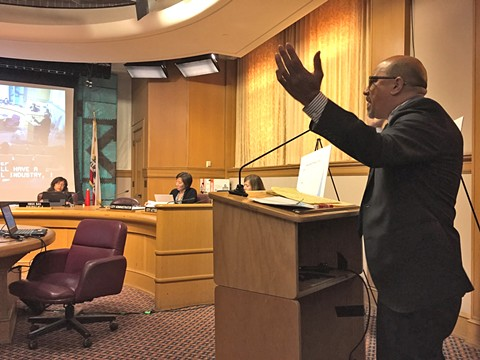 Attorney James Anthony testifies before the Finance Committee regarding the tax cut proposal.