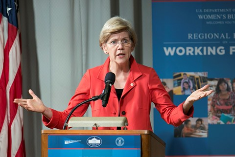 Sen. Elizabeth Warren visits Oakland on Friday for a town hall at Laney College. - WIKIMEDIA COMMONS