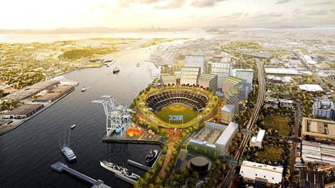 Oakland officials offered support for two piece of state legislation to streamline approval for a new ballpark on the Oakland waterfront. - FILE PHOTO