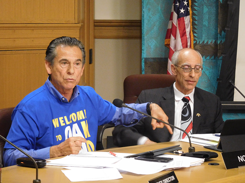 Oakland Councilmember Noel Gallo, left, wants to enlist military recruits to help clean up city streets. - FILE PHOTO
