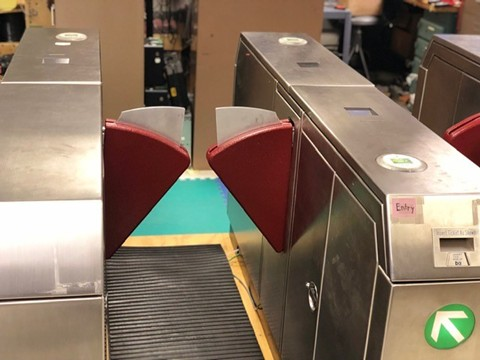 Fare gates at the Fruitvale BART station. - BART