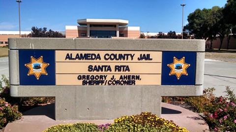 Last weekend's death of an inmate at Santa Rita Jail was the eighth incident this year. - FILE PHOTO
