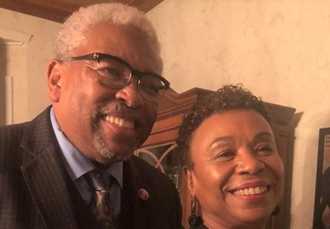 Thirteenth Congressional District First Man Rev. Dr. Clyde Oden, Jr. and Rep. Barbara Lee. - BARBARA LEE FOR CONGRESS