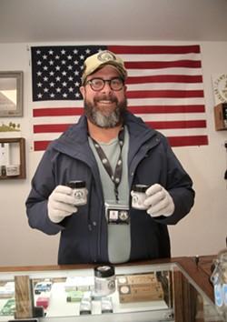 SALES ARE UP: Owner Jason Sweatt of the Santa Cruz Veterans Alliance. - TARMO HANNULA