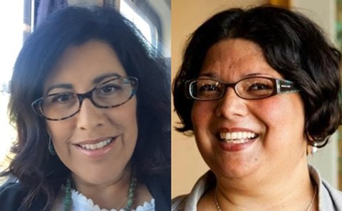 Oakland Unified School District Trustees Roseann Torres and Shanthi Gonzales introduced a resolution on Wednesday to eliminate the district's police force. - FILE PHOTOS