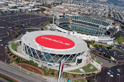 Oakland's proposed negotiations to sell its half of the Coliseum site (the county owns the other half) also includes Oakland Arena. - FILE PHOTO