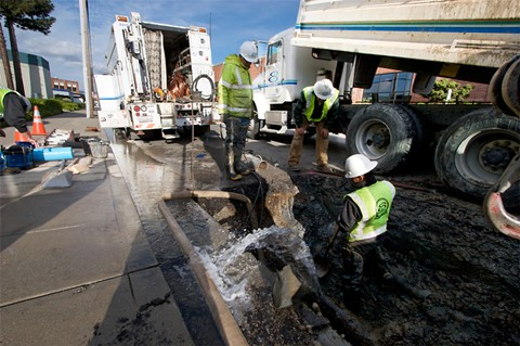 About 300 residents in Berkeley and surrounding areas were without water Wednesday night. - EBMUD