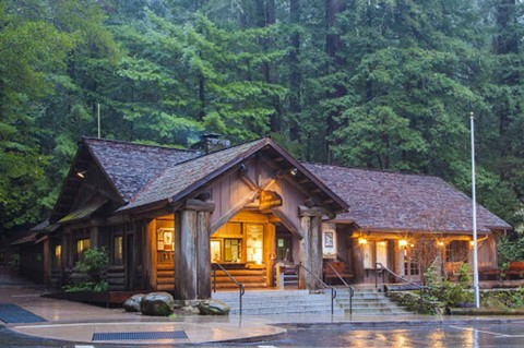 The Big Basin Redwoods Visitors Center in Santa Cruz County was consumed by wildfires.