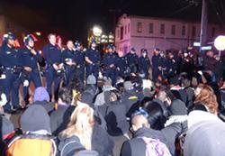 May 23 protest in Oakland. - DARWIN BONDGRAHAM/FILE PHOTO