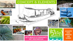 The parklet's design is loosely inspired by Ohlone canoes and sweat lodges.