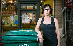 Gail Lillian, owner of Liba Falafel, which received massive rate increases for composting this month. - FILE PHOTO / BERT JOHNSON