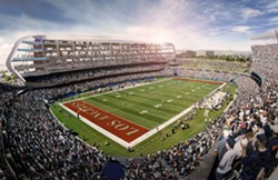 The Oakland Raiders' proposed stadium in Southern California.