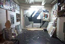 Inside the studio of Brett Flanigan. - BROCK BRAKE