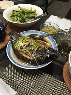 """The fish was """"ok"""" (photo courtesy of Yelp user """"Sung L."""")."""