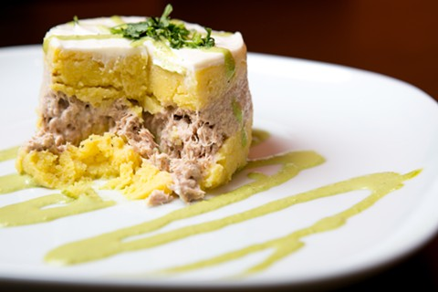 The causa de atun was elegantly presented but homey. - BERT JOHNSON