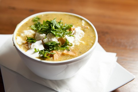 The homey green chicken enchilada soup was a pleasant surprise. - BERT JOHNSON