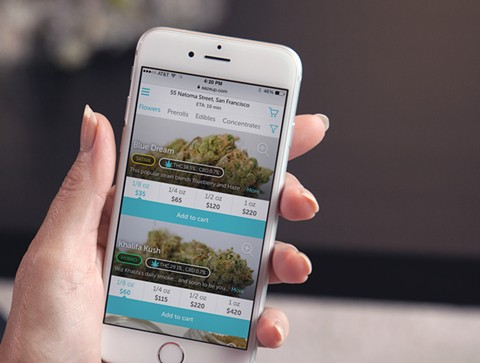 Eaze — ushering in the gilded age for weed delivery. - COURTESY OF EAZE