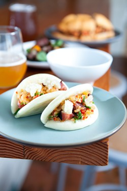 Surf and turf on a bao. - BERT JOHNSON