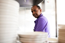 Injera chef Aron Haile. - BERT JOHNSON