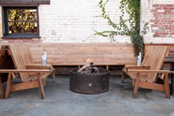 Diners at Drake's can get comfy on Adirondack chairs, alongside a blazing fire pit. - BERT JOHNSON