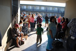 Tenants at Bay View Apartments in Alameda received eviction notices just days after the city council approved a moratorium on evictions. - STEVEN TAVARES