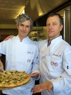 Longtime pizza delivery drivers Chris Ferreira and Chris Horvath. - PIZZA MATADOR