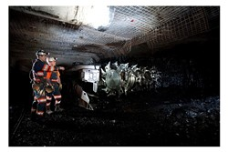 Underground in the Twentymile Mine, one of three coal mines bought by Bowie last month. - PEABODY ENERGY CORPORATION