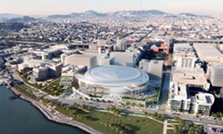 Support has pummeted for the proposed Warriors' arena in San Francisco.
