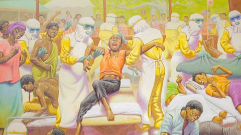 "A detail from ""The Ebola Treatment Center"" by Guy Colwell. - BERT JOHNSON"