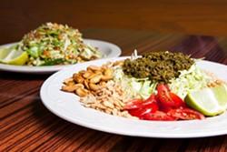 Grocery Cafe's funky tea leaf salad. - BERT JOHNSON/FILE PHOTO