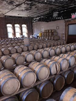The barrel house at Kings County Distilling, Brooklyn, NY. - BILL OWENS