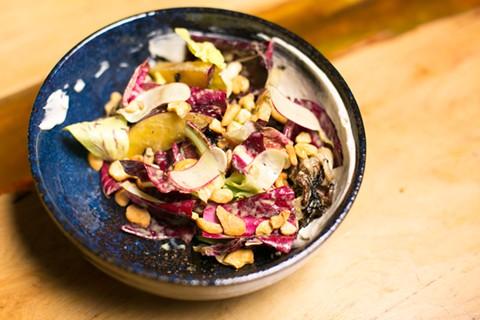 Grilled chicories salad. - BERT JOHNSON