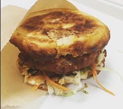 Test version of LocoL's chicken burger (via Instagram).