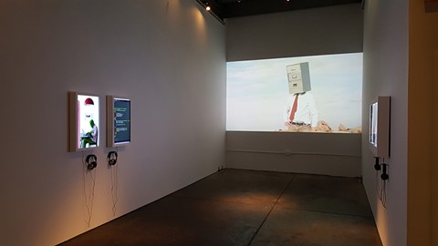 Inside Aggregate Space's Flesh and Blood exhibit. - COURTESY OF AGGREGATE SPACE
