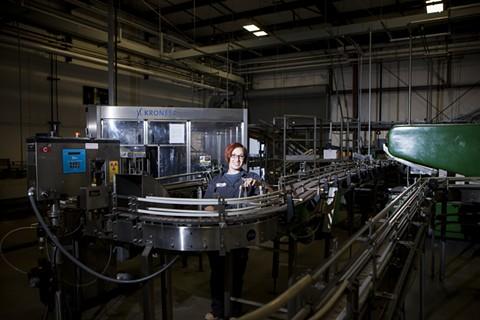 A portrait of Kayla Brogna, senior brewer at Trumer Brauerei in Berkeley. - NATALIE JENKS