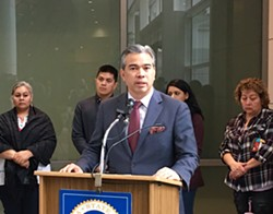 Assemblymember Rob Bonta introduced his legislation today at a press conference in downtown Oakland. - STEVEN TAVARES
