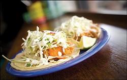 Cholita Linda's signature fried fish taco. - CHRIS DUFFEY/FILE PHOTO