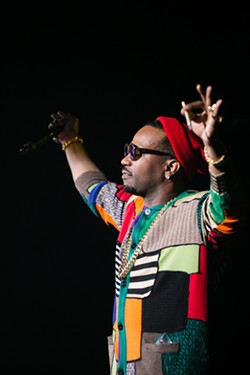 Juicy J performed recent hits as well as some older Three 6 Mafia tracks. - BERT JOHNSON