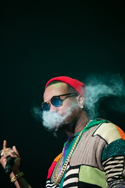In contrast to his druggy persona, Juicy J was completely lucid and delivered an impeccable performance. - BERT JOHNSON