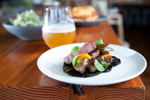Beef tongue and uni at Salsipuedes. - BERT JOHNSON/FILE PHOTO