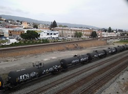 An oil train in Oakland. - DARWIN BONDGRAHA
