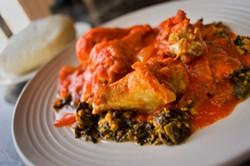 The egusi stew at Miliki. - CHRIS DUFFEY/FILE PHOTO