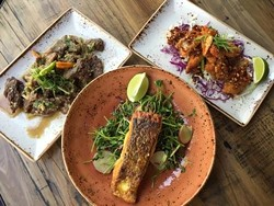 A trio of dishes at Teni East Kitchen. - TENI EAST KITCHEN