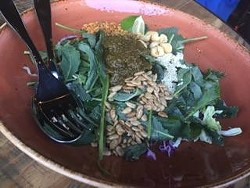 There's kale in the tea leaf salad. - TENI EAST KITCHEN