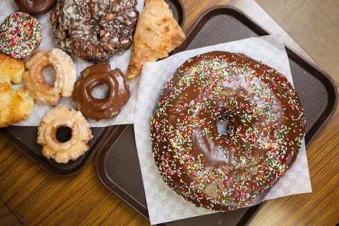 A spread at World's Fare in Hayward — one of the many Cambodian-owned doughnut shops in the Bay Area. - BERT JOHNSON/FILE PHOTO
