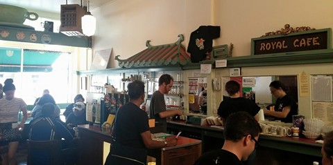 The counter at Mama's Royal (via Facebook).