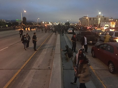 Activists overtake Interstate 880.