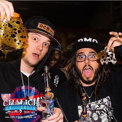 "In his element: entertainer Adam III (right) of ""Getting High With"". - VIA CHALICE CALIFORNIA ON INSTAGRAM"