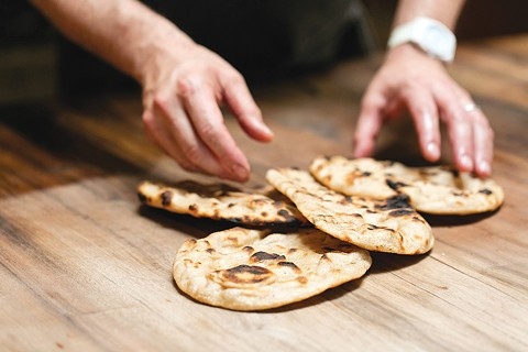 The flatbread will be prominently featured at The Kebabery, a new restaurant in North Oakland. - ANDRIA LO